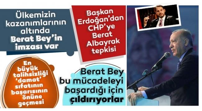 Cumhurbaşkanı Erdoğan'dan CHP'ye 'Berat Albayrak' tepkisi: Kuduruyorlar...