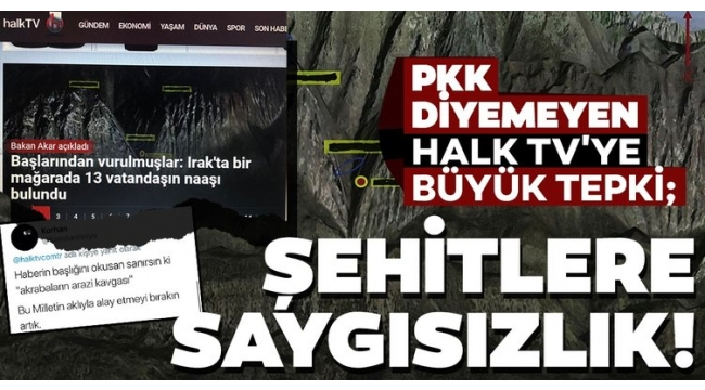 HALK TV terör örgütü PKK'yı başlığa taşımadı! Sosyal medya ayağa kalktı
