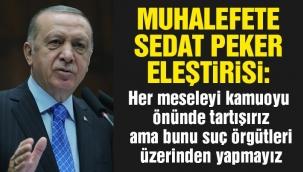 Erdoğan'dan Sedat Peker açıklaması: Lağım çukuru ...