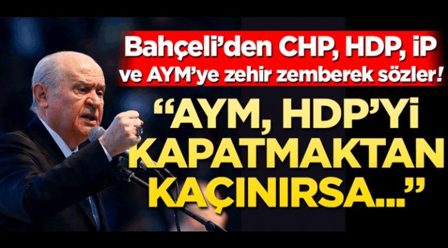 Devlet Bahçeli'den Anayasa mahkemesine sert sözler !