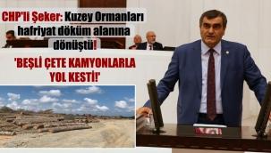 CHP'li Şeker: Kuzey Ormanları hafriyat döküm alanına dönüştü! 'Beşli çete kamyonlarla yol kesti!'