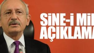 """CHP Lideri Kemal Kılıçdaroğlu''CHP'nin Sine-i Millet kararı erken genel ve cumhurbaşkanlığı seçimi yapılmasını sağlamaz."""""""